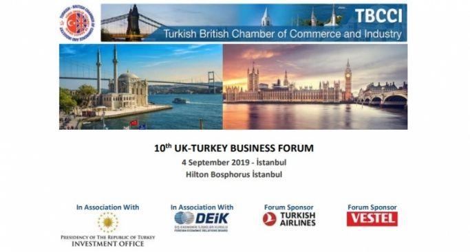10. Türkiye - Birleşik Krallık İş Forumu 4 Eylül'de UND Katılımıyla İstanbul'da Gerçekleştirilecek