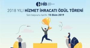 HİB 2018 Yılı Hizmet İhracatı Ödülüne Başvurdunuz mu?
