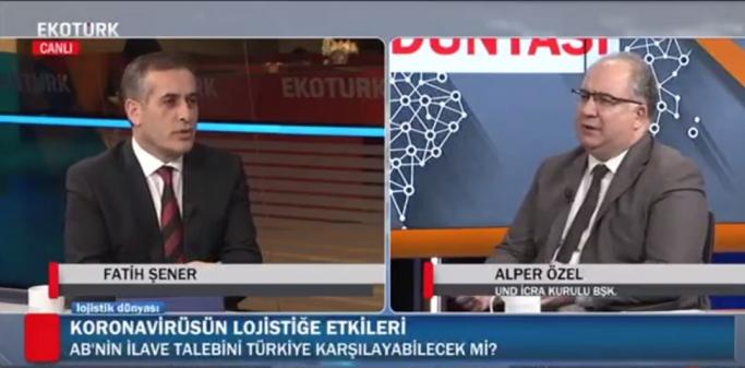 Fatih Şener ile Lojistik Dünyası'nın Konuğu UND İcra Kurulu Başkanı Alper Özel Oldu