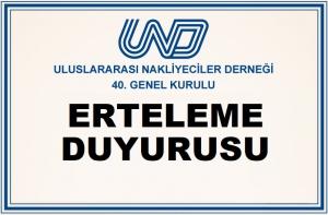 UND Genel Kurulu Erteleme Duyurusu