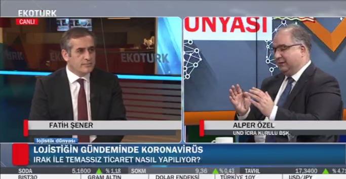 Fatih Şener İle Lojistik Dünyası'nın Konuğu UND İcra Kurulu Başkanı Alper Özel Oldu