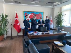 UND, Yeni Atanan Muratbey Gümrük Müdürü Vedat Aydın'ı Ziyaret Etti