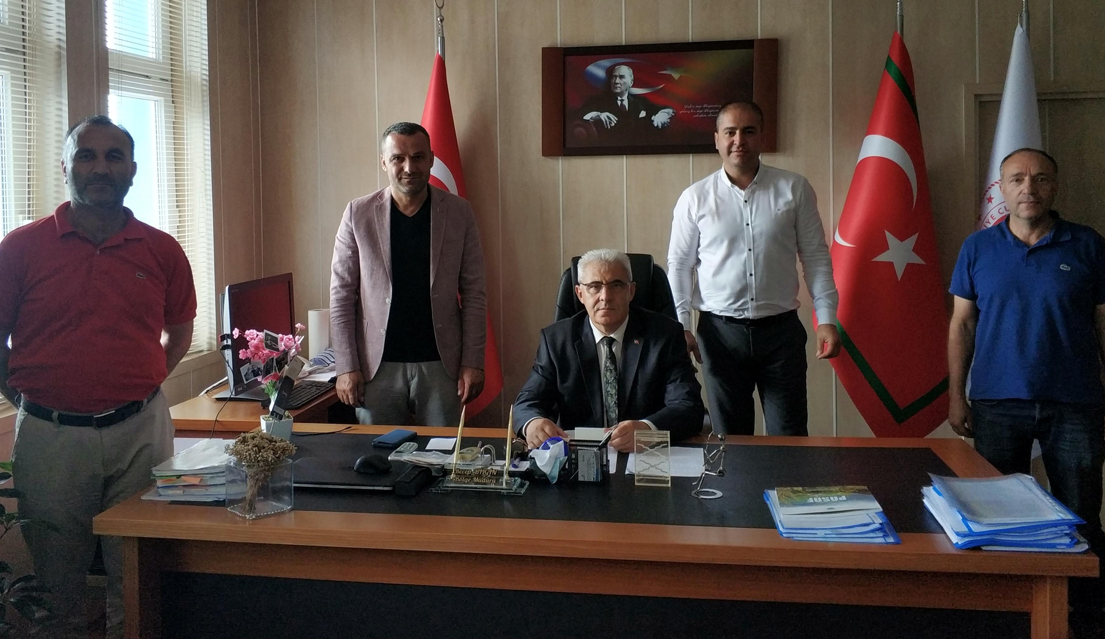 Karadeniz Çalışma Grubu Üyeleri Kaçkar Gümrük ve Dış Ticaret Bölge Müdürlüğünü Ziyaret Etti