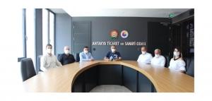 UND Hatay Yönetim Kurulu Üyeleri Antakya Ticaret ve Sanayi Odasını Ziyaret Etti