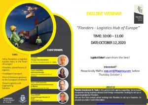 """Belçika Flaman Bölgesi Ticaret Ataşeliği """"Flanders - Logistics Hub of Europe"""" Webinarı"""