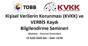 Kişisel Verilerin Korunması (KVKK) ve VERBİS Kaydı  Bilgilendirme Semineri