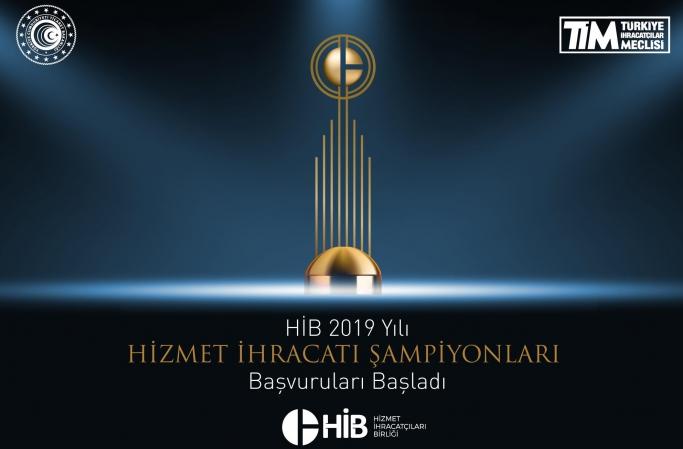 HİB 2019 Yılı Hizmet İhracatı Şampiyonları Başvuruları Başladı