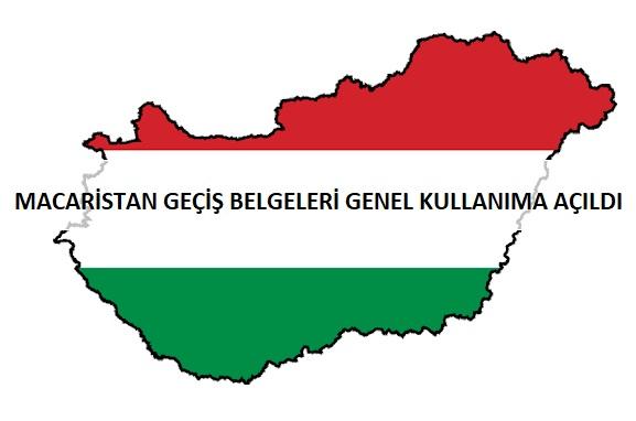 Macaristan Geçiş Belgeleri Genel Kullanıma Açıldı