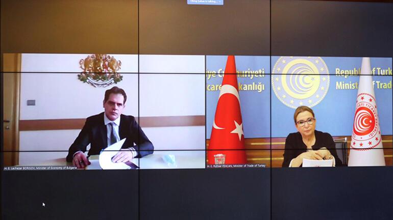 Ticaret Bakanımız Ruhsar Pekcan, Bulgaristan Ekonomi Bakanı Lachezar Borisov ile Yaptığı Görüşmede TIR Geçişlerine Değindi