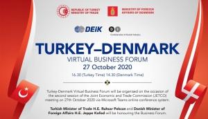 Türkiye-Danimarka Sanal İş Forumu 27 Ekim Tarihinde Gerçekleştirilecek