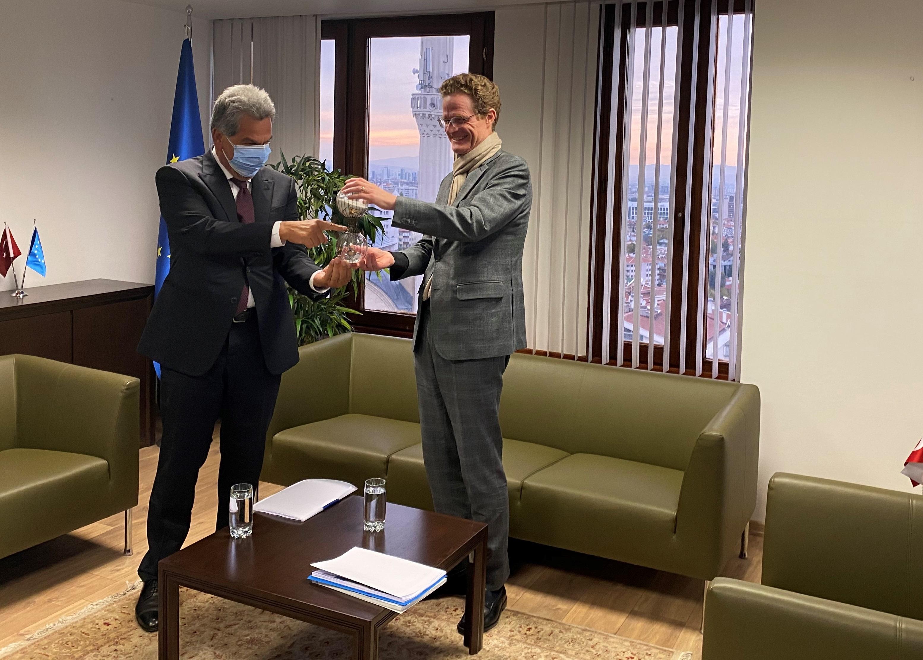 UND Heyetinden Avrupa Birliği Türkiye Delegasyonu Başkanı Büyükelçi Meyer-Landrut'a Nezaket Ziyareti
