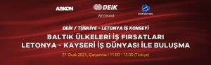 DEİK/ Türkiye – Letonya İş Konseyi Baltık Ülkeleri İş Fırsatları Webinarı