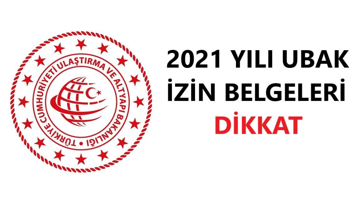 Teslim Alınmayan 2021 Yılı Ubak İzin Belgelerinin Yeniden Tahsis Ve Ödeme Numaralarını Gösterir Liste Yayımlanmıştır