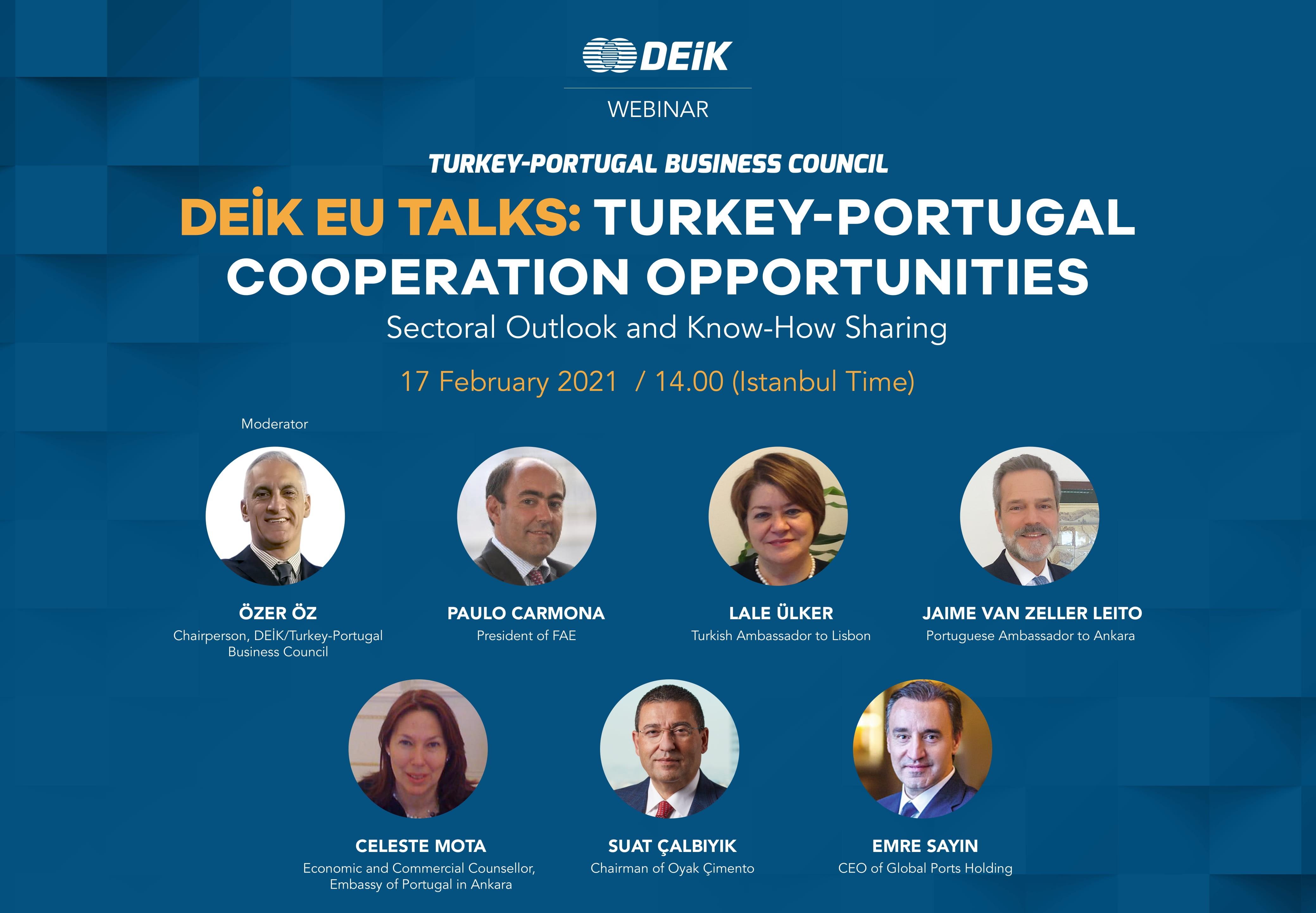 DEİK EU Talks: Türkiye-Portekiz İşbirliği Fırsatları Webinarı