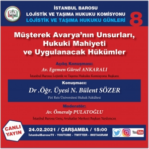 İstanbul Barosu Çevrimiçi Seminerine Davet