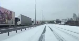 Ukrayna'da Yoğun Kar Yağışı
