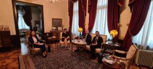 UND, Sofya Büyükelçimiz Sayın Aylin Sekizkök ile Batı Kara Sınır Kapılarındaki Gelişmeleri Görüştü