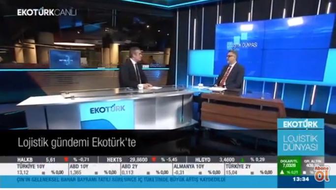 Eko Türk TV, Lojistik Dünyası'nın Konuğu Mehmet Akif Eroğlu