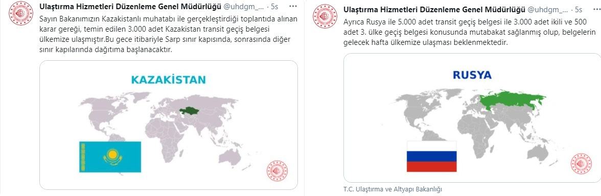 Kazakistan ve Rusya Geçiş Belgeleriyle İlgili Son Durum