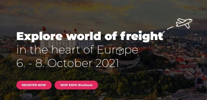 World of Freight EXPO 2021 Fuarı, Bratislava/Slovakya, 6 – 8 Ekim 2021