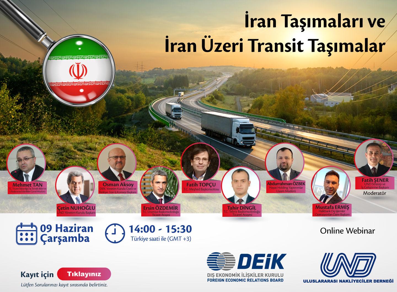 WEBINAR: İran Taşımaları ve İran Üzeri Transit Taşımalar | 9 Haziran 2021 - 14:00