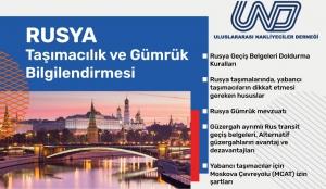 Rusya - Taşımacılık ve Gümrük Bilgilendirmesi Webinarı - 12 Temmuz Pazartesi 11:00
