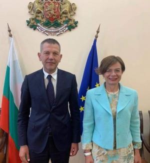 Sofya Büyükelçimiz Sayın Aylin Sekizkök Bulgaristan Geçici Ulaştırma, Bilgi Teknolojisi Ve Haberleşme Bakanı Sayın Georgi Todorov İle Bir Araya Geldi