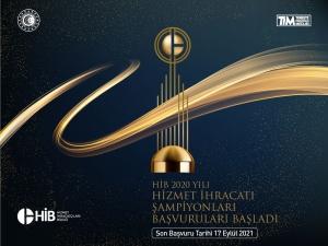 HİB 2020 Yılı Hizmet İhracatının Şampiyonları Başvuruları Başladı