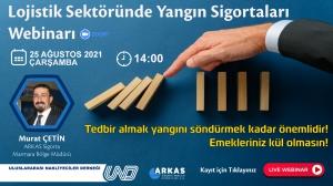 Lojistik Sektöründe Yangın Sigortaları Webinarı - 25 Ağustos saat 14:00