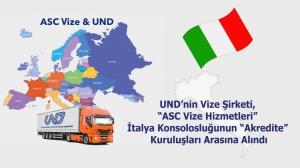 """UND'nin Vize Şirketi, """"ASC Vize Hizmetleri"""" İtalya Konsolosluğunun """"Akredite"""" Kuruluşları Arasına Alındı"""
