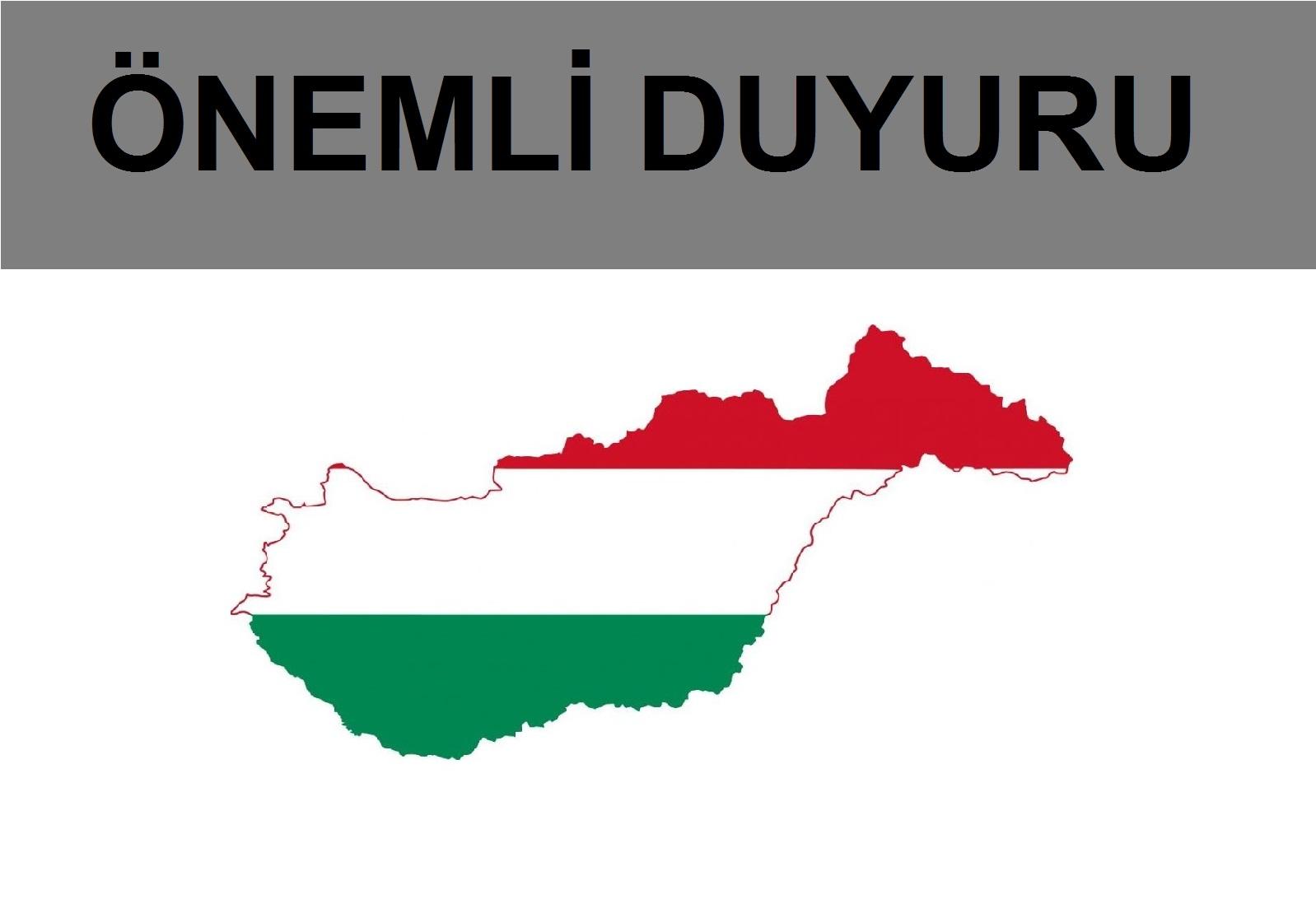 Macaristan İkili Geçiş Belgeleri 15.09.2021 Tarihinde Kullanıma Açılacak