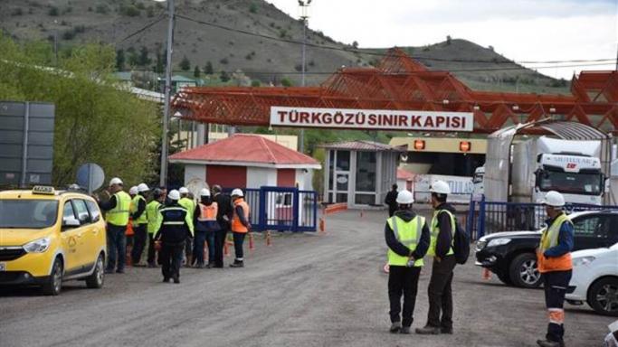 Türkgözü Sınır Kapısında Yoğunluk