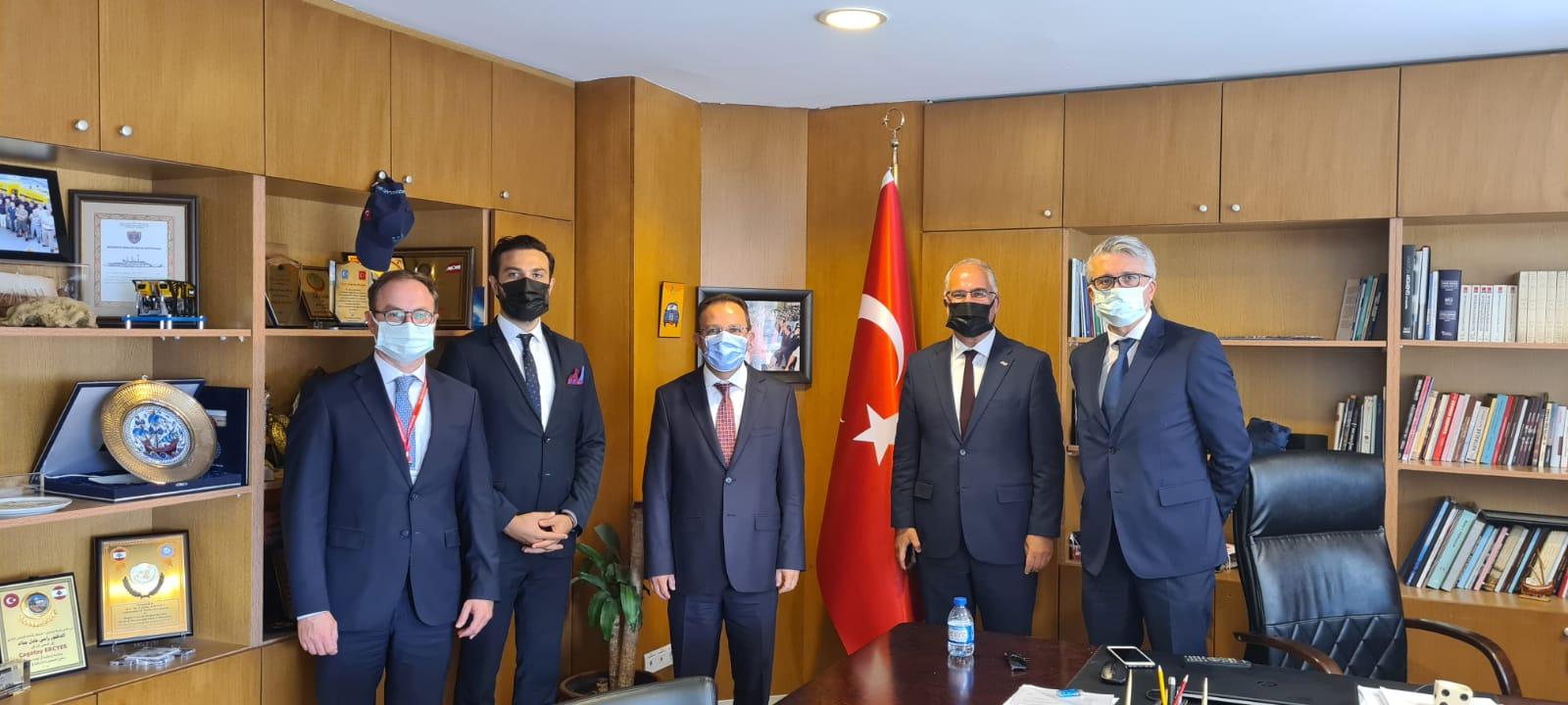 UND, Dışişleri Bakanlığı İkili Siyasi İşler ve Denizcilik, Havacılık, Hudut Genel Müdürü Büyükelçi Sayın Çağatay Erciyes'i Ziyaret Etti