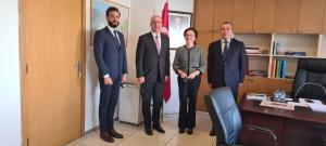UND, Dışişleri Bakanlığı Güney ve Batı Avrupa Genel Müdürü Büyükelçi Sayın Şebnem İncesu'yu Makamında Ziyaret Etti